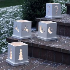 Holiday Luminarias Paper Woodworking Plan