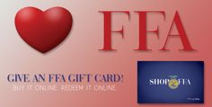 Shop FFA Gift Cards are now available!