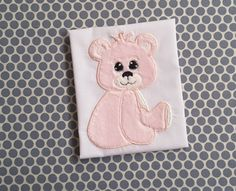 Baby Applique Baby Design Machine Embroidery  Teddy Bear by BabyEmbroideryShop on Etsy