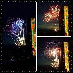 Fireworks at hilton Hawaiian village in Honolulu