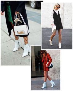 A bota branca também é a queridinha das fashionistas.