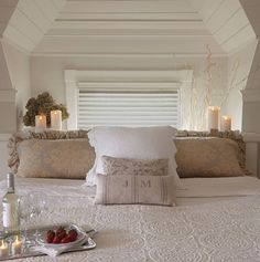Add romantic ambiance to the master bedroom with Luminara!