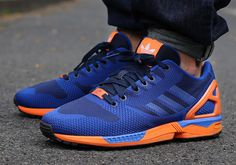 9bd2eec8e7fd adidas Originals ZX Flux Weave Blue Orange  The adidas Originals ZX Flux  Weave is back in a new Knicks-inspired combination of blue and orange.