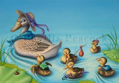 Ducklings on the Move by Red-Clover.deviantart.com on @DeviantArt