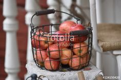 """Download the royalty-free photo """"Harvest time, fresh apples"""" created by Ciaobucarest at the lowest price on Fotolia.com. Browse our cheap image bank online to find the perfect stock photo for your marketing projects!"""