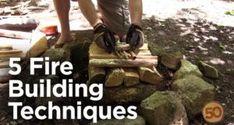 5 Campfire building techniques