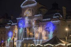 Illuminations, place du Ralliement. (Photo: Thierry Bonnet/Ville d'Angers) 2013, France, Mansions, House Styles, Places, Winter, Manor Houses, Villas, Mansion
