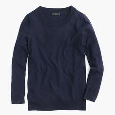 Petite Tippi sweater-  Light Navy.   Preppy Capsule Wardrobe.