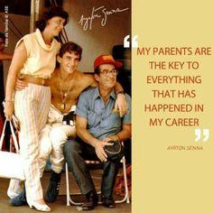 Ayrton Senna and his parents