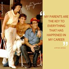 Ayrton Senna and his parents