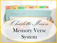 Living and Learning at Home: Bible Memory Time! (using the Charlotte Mason Memory Verse System)
