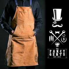 FancyGents Barber Leather Apron