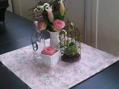 Shabby Chic Country Wedding Centerpieces & Decorative Items :  wedding Completed Centerpiece