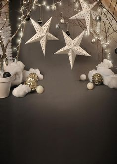 Christmas Background Backdrops For Event Gray Backdrop J02564