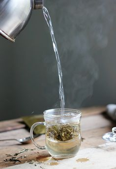 Tea Infusions with Glass Mug and White Tea from JING