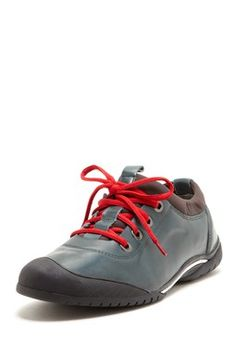 Lace-Up Leather Sneaker***