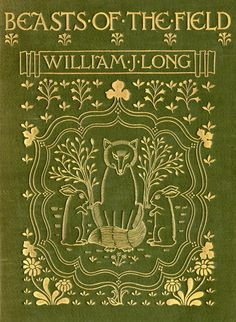 Old Books & Things: original green cloth with beautiful gilt detail |  Beasts of the Field | William J Long 1901