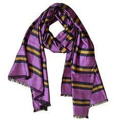 House of Wandering Silk - Afghan silk scarf in lavender & gold (Af22)