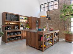Küche aus Holz mit Kücheninsel LOFT - TEAM 7 Natürlich Wohnen