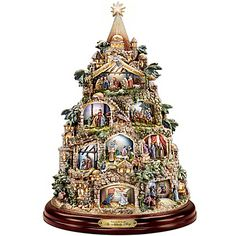 The Nativity Tree Tabletop Centerpiece Presented And Narrated By Thomas Kinkade