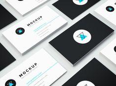 isometric+business+cards+mockup