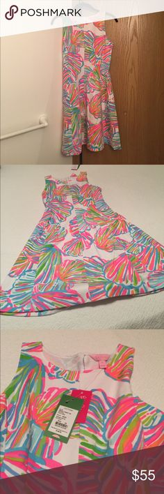 Lilly Pulitzer Dress New- Bright seashell dress Lilly Pulitzer Lilly Pulitzer Dresses Midi