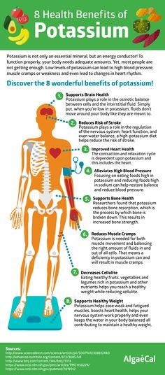 8 Health Benefits of Potassium Infographic