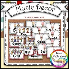 This is one of the coolest looking words walls! Absolutely adorable! Perfect for any music room. #elmused #word wall #musicdecor #pitchpublications