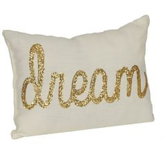 Ivory Dream Accent Pillow ($16) ❤ liked on Polyvore featuring home, home decor, throw pillows, pillows, pillows/blankets, cream throw pillows, gold sequin throw pillow, cream colored throw pillows, beige throw pillows and ivory throw pillows