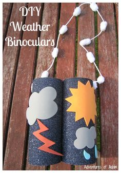 DIY Weather Binoculars. Easy to make binoculars so our little one can spot what the weather is like.