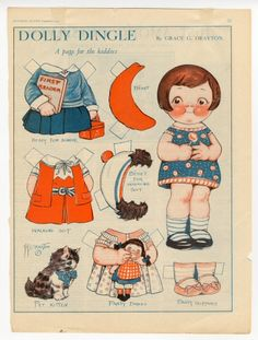82.297: Dolly Dingle | paper doll | Paper Dolls | Dolls | National Museum of Play Online Collections | The Strong