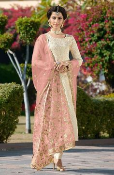 Shop online from a wide collection of fashionable women's clothing like salwar kameez, salwar suit. Grab this jacquard silk thread work pakistani straight salwar kameez ceremonial, party and reception online. Pakistani Dresses, Indian Dresses, Indian Outfits, Indian Designer Outfits, Designer Dresses, Churidar Suits, Salwar Kameez, Anarkali Suits, Sharara