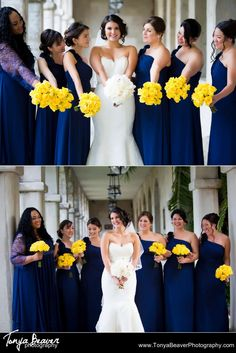 Blue dresses and yellow bouquets!  Tonya Beaver Photography Saint Augustine Wedding Photography