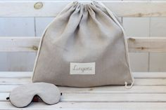Bridal Shower Gifts, Bridal Gifts, Wedding Gifts, Cute Birthday Gift, Birthday Gifts For Her, Linen Bag, Linen Fabric, Honeymoon Gifts, Elastic Thread
