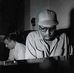 alfred lion & thelonious monk, 1952