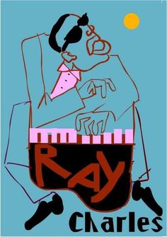 Ray Charles Original Raw Blues Piano Jazz POP ART Edavy.