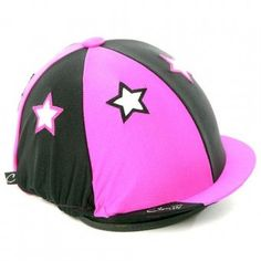 Pink and Black Stars Hat Cover