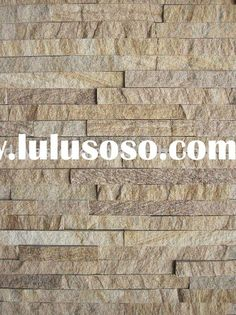 Stacked stone back splash for the lounge room backing for fireplace