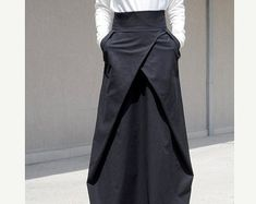 Flowy Maxi Skirt with Pocket, Evening Bridesmaid Skirt, High Waisted Skirt, High Fashion Skirt, Floor Length Skirt Cotton Skirt Large Skirt Goth Skirt, Gypsy Skirt, Full Length Skirts, Plus Size Skirts, Skirt Fashion, Fashion Outfits, Bridesmaid Skirts, Steampunk Skirt, Evening Skirts