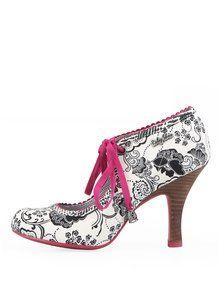 Boty na podpatku s mašličkou Ruby Shoo Gwyneth