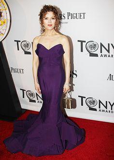 Bernadette Peters on the Tonys red carpet