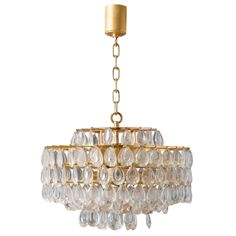 Sciolari 6 Tiers Chrystal Faceted  Chandelier. | From a unique collection of antique and modern chandeliers and pendants  at http://www.1stdibs.com/furniture/lighting/chandeliers-pendant-lights/