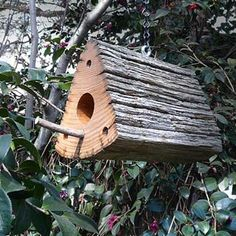 Chestnut fence rail birdhouse