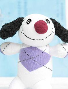Handmade dog stuffed animal stripe dolls baby Home Decor toys soft doll