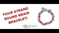 Four Strand Round Braid #Paracord Bracelet.