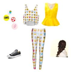 Emoji fun by kaywisorbet on Polyvore featuring polyvore, fashion, style, Ingie Paris, Converse and Disney