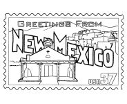 Oklahoma state stamp coloring page states oklahoma pinterest usa printables state of new mexico coloring pages new mexico tradition and culture sciox Image collections