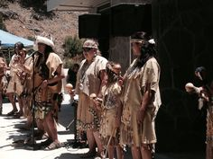 The Gabrieleno-Tongva San Gabriel Band of Mission Indians performing a song at the Native American Celebration at The Stough Canyon Nature Center in Burbank