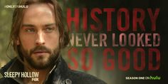 "hulu:  It's time to study history… History's eyes, lips, the way history says ""Abbie."" That is why Sleepy Hollow's Ichabod Crane (Tom Mison) is our #mcm."