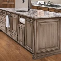 Custom Glazed Kitchen Cabinets light gray kitchen cabinets with chocolate glaze |  cabinet